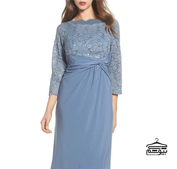 پیراهن یا دامن با قد کوتاه (بالای زانو) برای مادر عروس