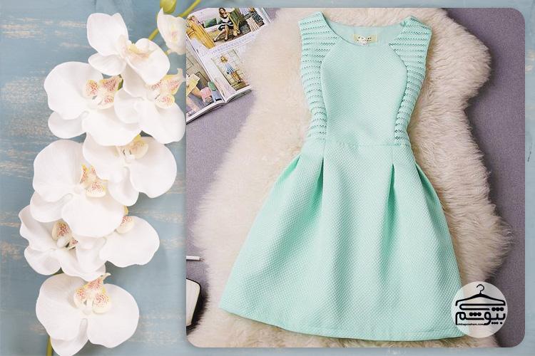 مدل لباس مجلسی آبی
