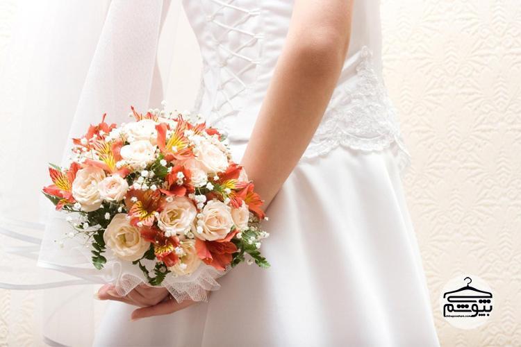 دسته گل عروس زیبا