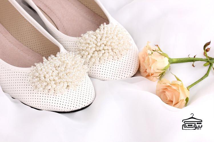 مدل کفش عروس پاشنه تخت