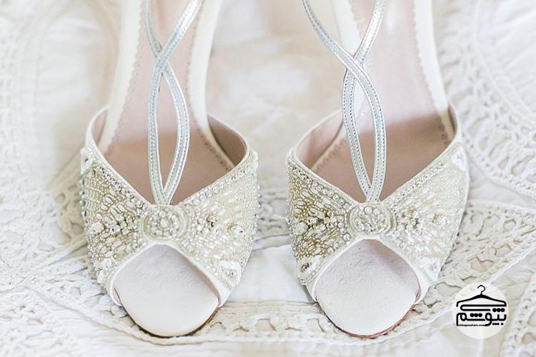 مدل کفش عروس بندی