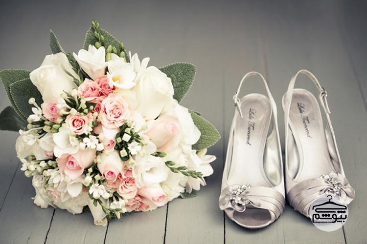 مدل کفش عروس بندی روی ساق