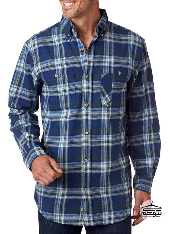 پیراهن مردانه از جنس پارچه فلانل