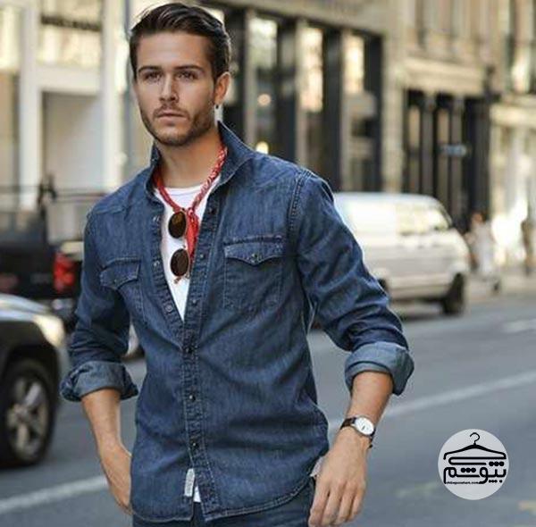 پیراهن مردانه جین