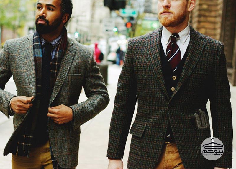 کت تک مردانه تویید یا فاستونی