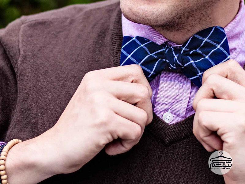 آموزش بستن پاپیون مردانه به صورت تصویری