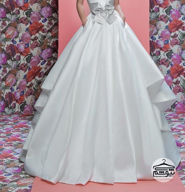 لباس عروس 2019 با یک پاپیون بزرگ