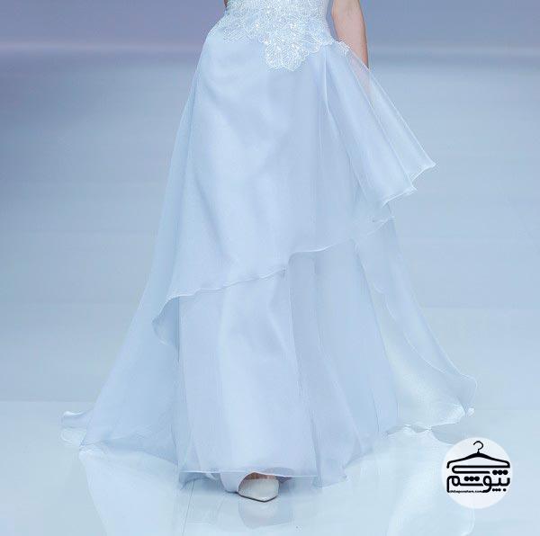 لباس عروس 2019 به رنگ آبی کمرنگ