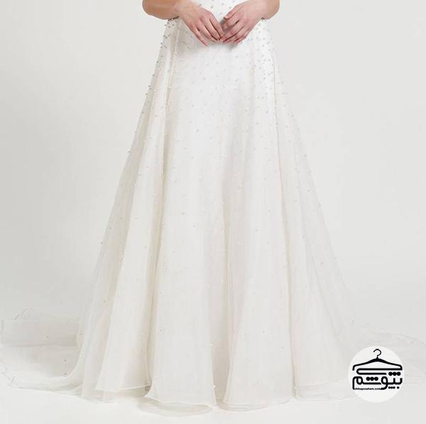لباس عروس 2019 مروارید دوزی شده