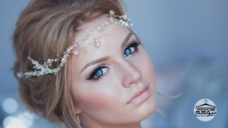آرایش عروس به سبک پر زرق و برق