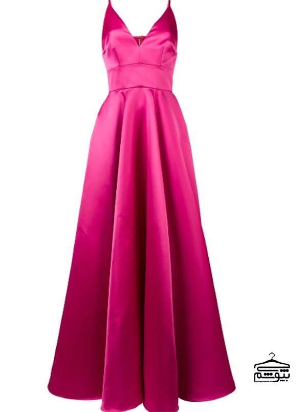 مدل لباس مجلسی 2019 با پارچه اطلس اصیل و با شکوه
