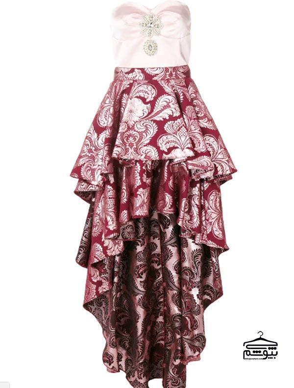 مدل لباس مجلسی ۲۰۱۹ با دوخت نامتقارن