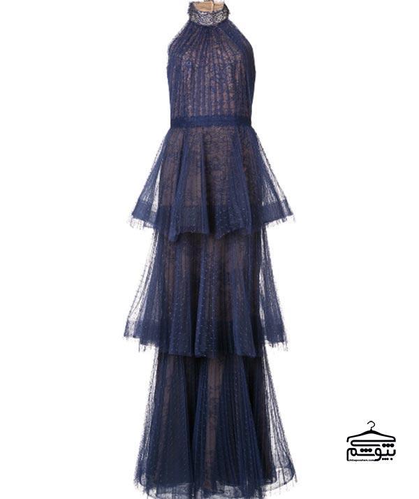 مدل لباس مجلسی ۲۰۱۹ با یقه هالتر