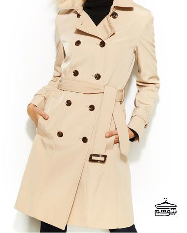 مدل مانتو بارانی از برند کلوین کلاین