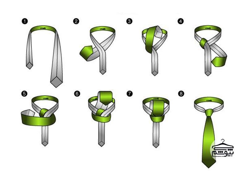 بستن کراوات با گره نیکی