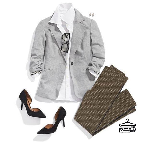 انتخاب کت و شلوار زنانه مناسب فرم اندام