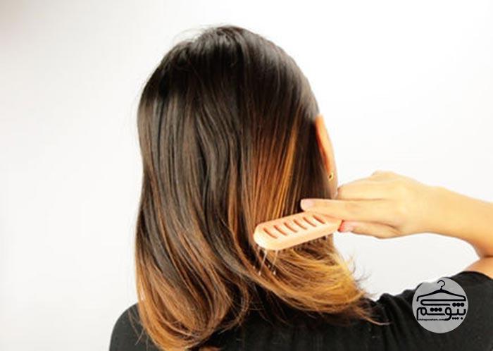پایین موهای خود را 2 الی 3 بار شانه کنید