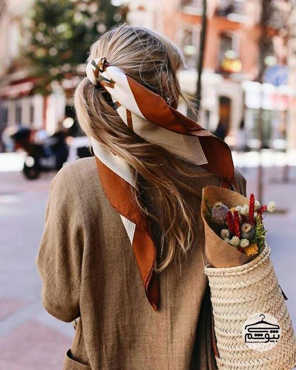 سعی کنید از کلاه یا دستمال گردن سبک قدیمی هم استفاده کنید