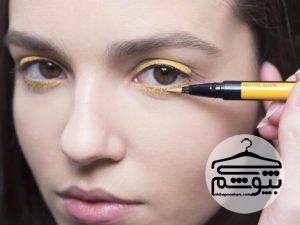 نحوه استفاده از خط چشم رنگی در آرایش صورت