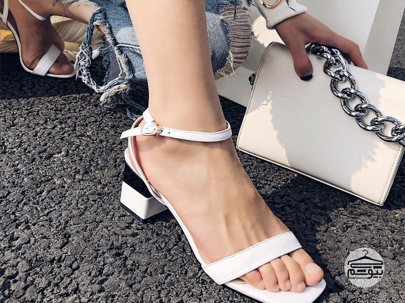 ست کردن کفش سفید پاشنهدار