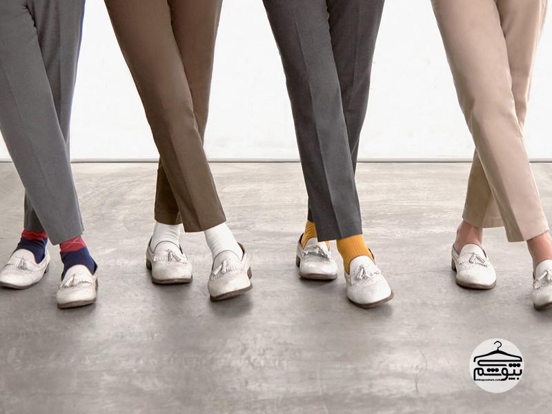 ست کردن کفش سفید آکسفورد با تیپ رسمی