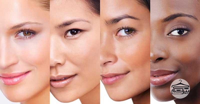 روشهای تشخیص ته رنگ پوست