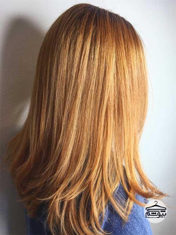 رنگ موی بلوند با تناژ نارنجی