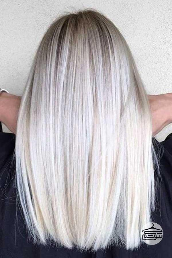 رنگ موی بلوند پلاتینی