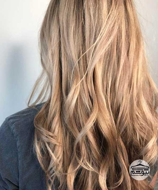 رنگ موی بلوند کدر