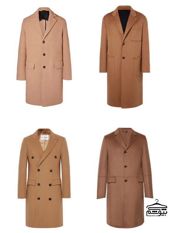 کت مردانه به رنگ کرم و شتری