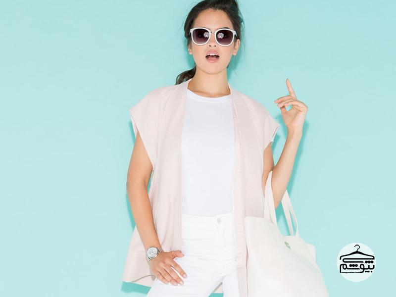تیپ تابستانی با لباس سفید