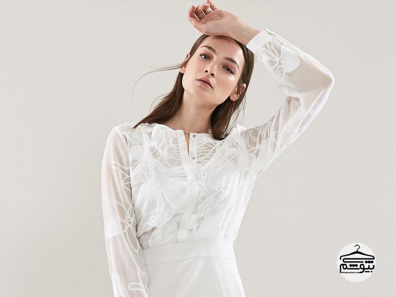 ست کردن پیراهن سفید