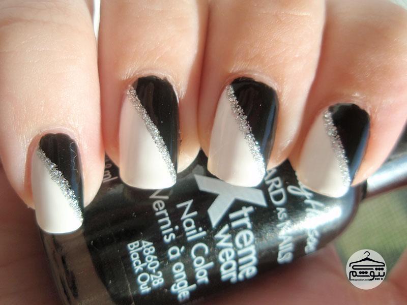 لاک زمستانی سیاه سفید اکلیلدار
