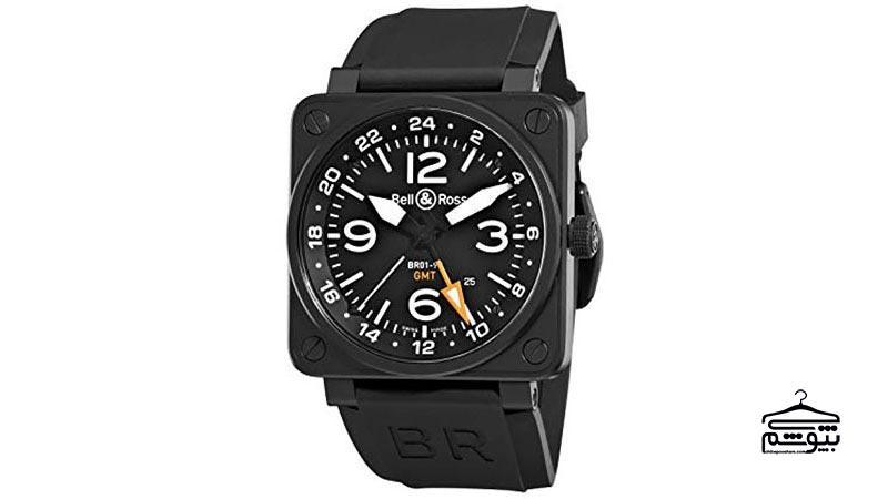 ساعت صفحه مربعی از برند بل اند رز مدل BR-01-93 GMT