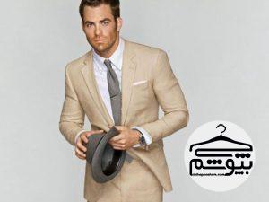بهترین مدلهای کت و شلوار کرم برای آقایان خوش استایل