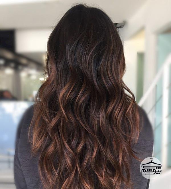 رنگ موی شکلاتی تیره