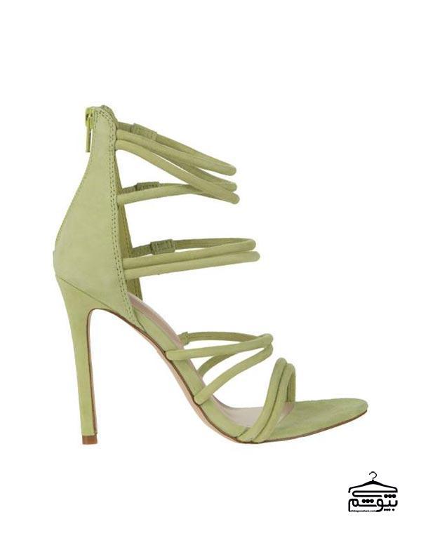 صندل و کفش تابستانی به رنگ سبز پاستلی