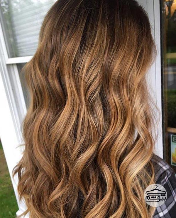 ترکیب رنگ موی برنز با بالیاژ رنگ عسلی