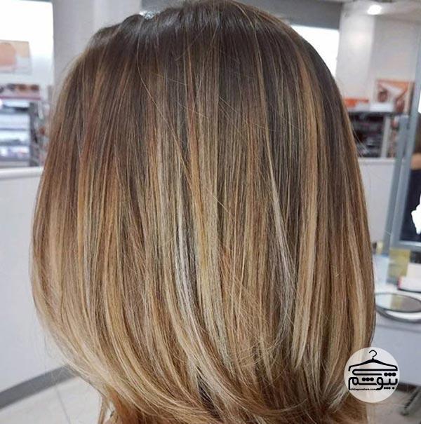رنگ موی عسلی مایل به بژ