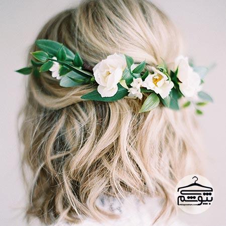 مدل موی عروس مناسب فرم صورت گرد