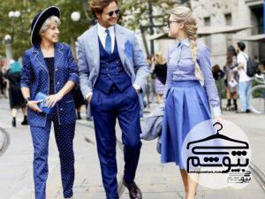 اصول ست کردن لباس با رنگ آبی برای خانمها