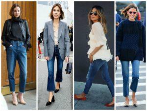 چه کفشهایی برای شلوار جین کوتاه یا لبهبرگردان مناسب هستند؟